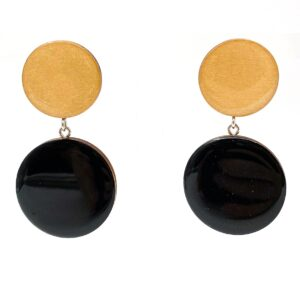 Black-Beige-Large-Double-Circle-Earrings-1