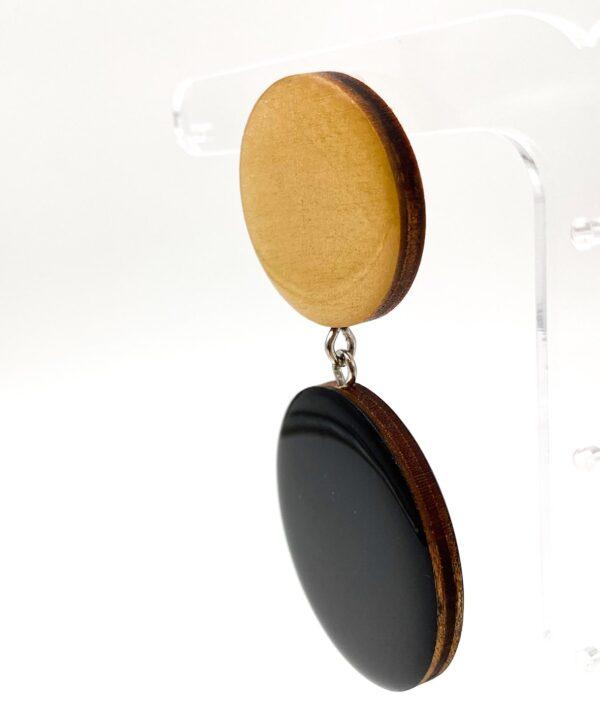 Black-Beige-Large-Double-Circle-Earrings-2