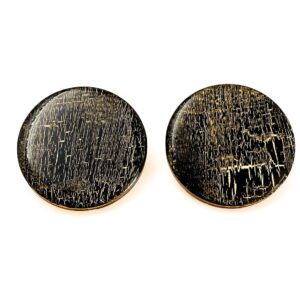 Black-Gold-Large-Circle Earrings-1