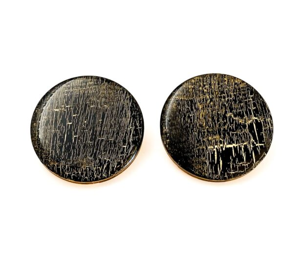Black-Gold-Large-Circle Earrings-1