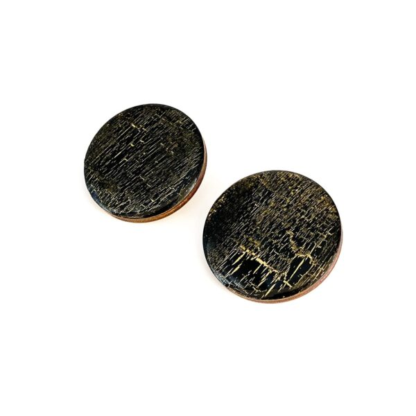 Black-Gold-Large-Circle-Earrings-2