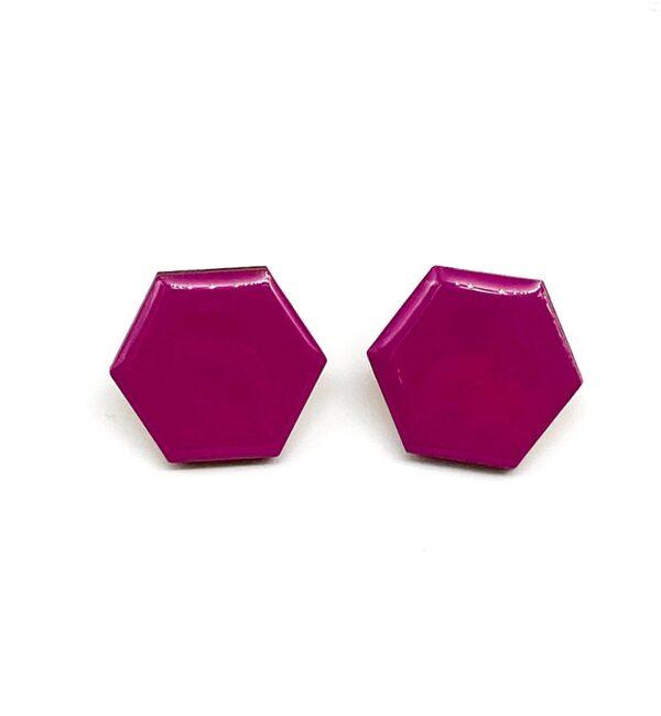 Purple-Small-Sixtangle-Earrings-1