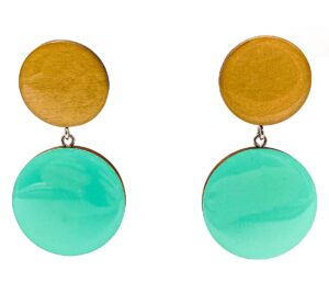Turquoise-Beige-Large-Double-Circle-Earrings-1