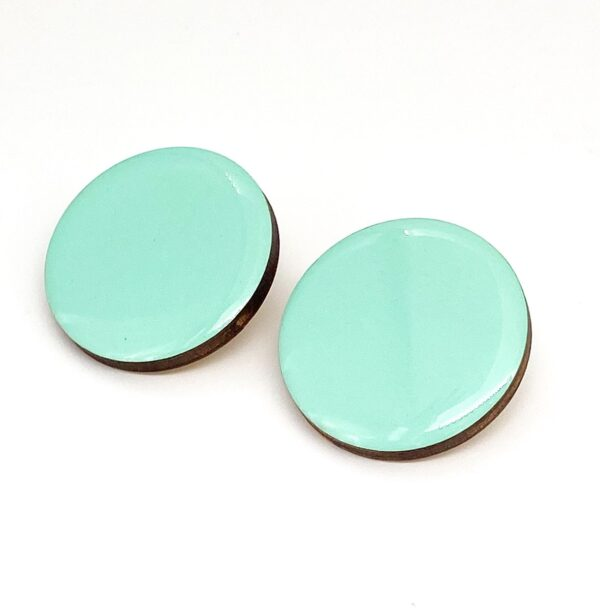 Turquoise-Medium-Circle-Earrings-2