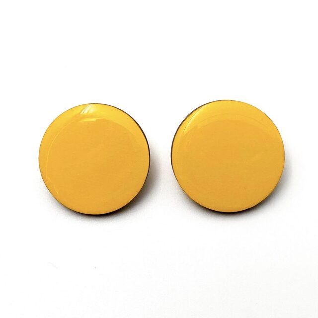 Yellow-Medium-Circle-Earrnings-1