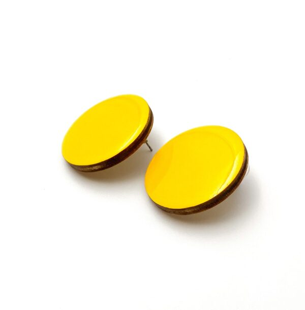 Yellow-Medium-Circle-Earrnings-2
