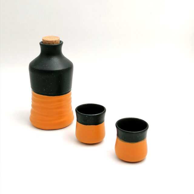 Raki for 2 handmade ceramic set