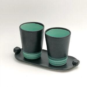 Double Esprresso Set Ceramics Handmade