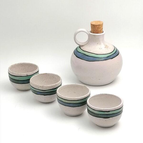 Raki For 4 Handmade Ceramic Set