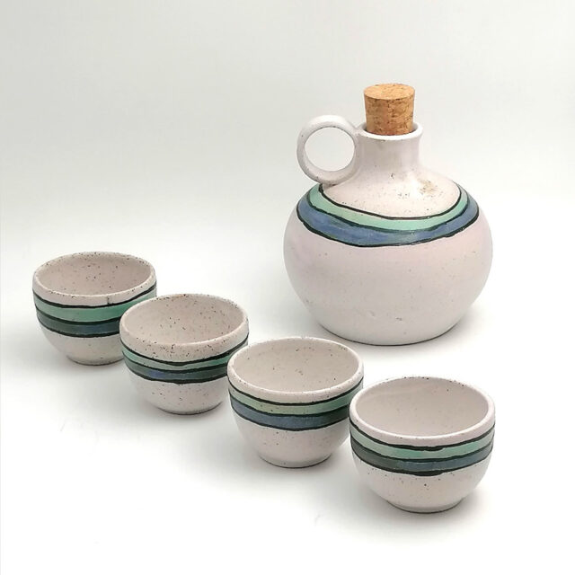 Raki For 4 Handmade Ceramic Set