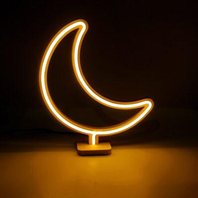 Moon neon lamp